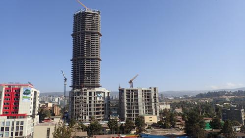 エチオピア|アジスアベバの高層ビル