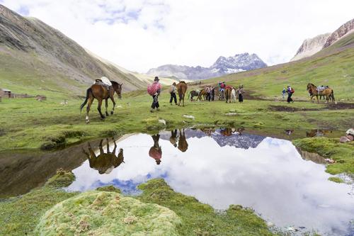 レインボーマウンテンの乗馬|ペルーでの撮影
